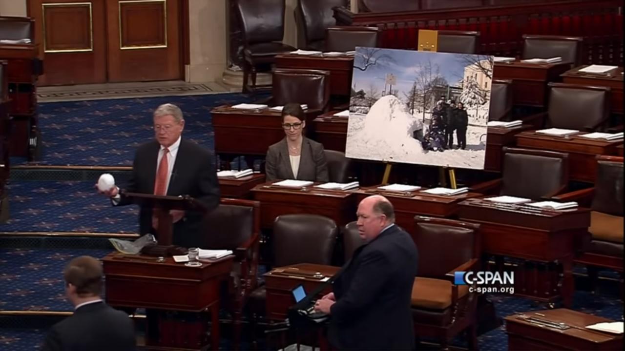 Sen. James Inhofe (R-OK) Snowball in the Senate (C-SPAN)