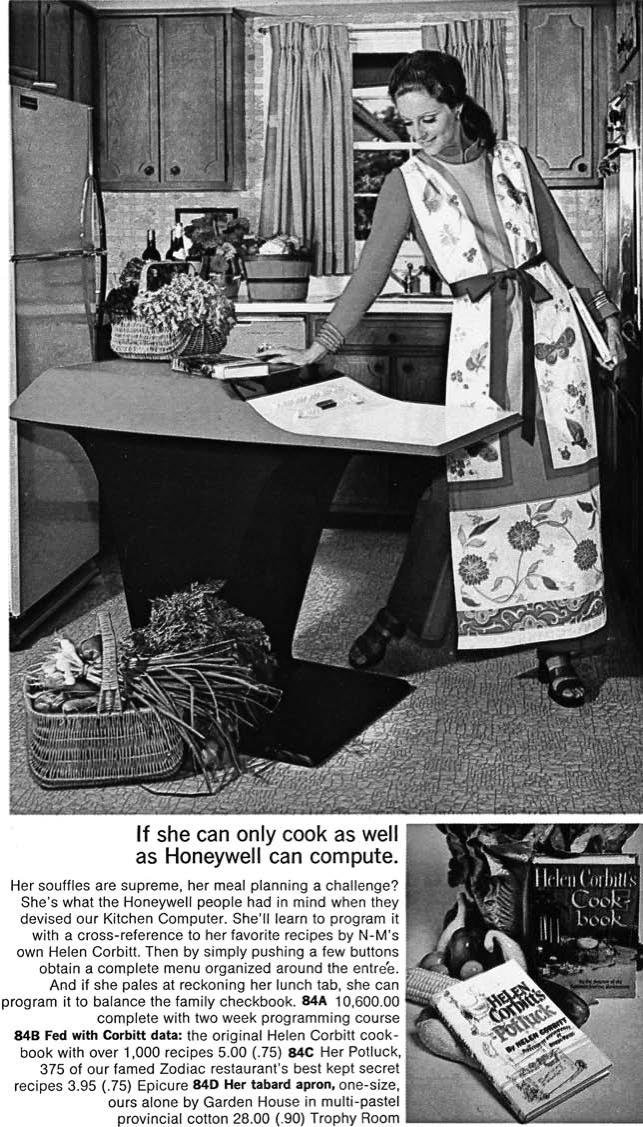 vintage ad for kitchen computer