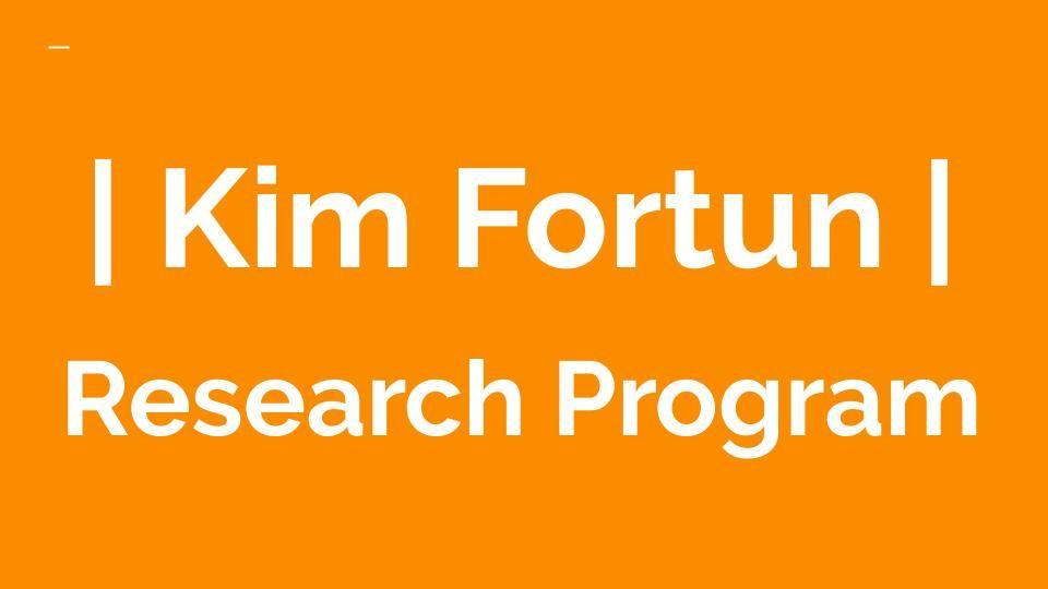 Kim Fortun | Research Program