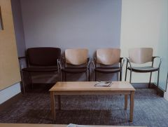 Waiting room four chairs
