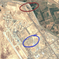Annotated map of burn pit in Balad