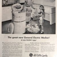 vintage ad for washing machine