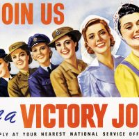 job recruitment ad for women in WWII