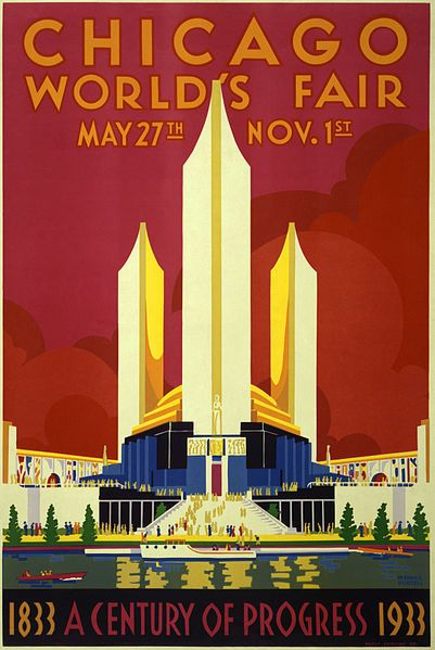 Poster for Chicago Worlds Fair 1933