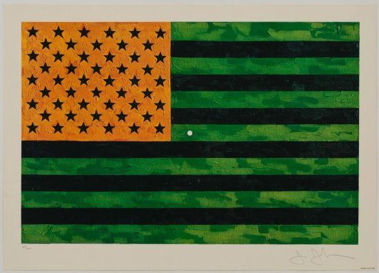 Jasper Johns' Flag Moratorium (1969)