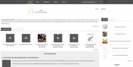 The Asthma Files homepage, Nov 26, 2018