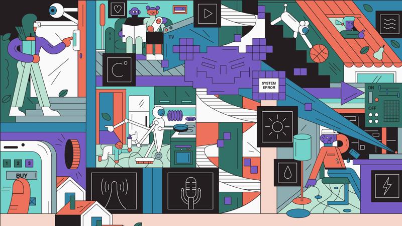 Illustration of smart home